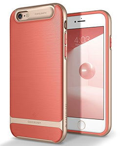 iPhone 6S Case, Caseology [Wavelength Series] Slim Dual Layer Textured Geometric Corner Cushion Design [Coral Pink] for Apple iPhone 6S (2015) & iPhone 6 (2014)