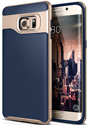 Galaxy S6 Edge Plus Case, Caseology [Wavelength Series] Slim Dual Layer Protective Textured Grip Corner Cushion Design [Navy Blue] for Samsung Galaxy S6 Edge Plus
