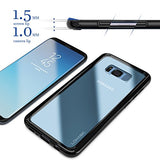 Galaxy S8 Plus Case,Lohasic Clear Hybrid Hard Back and Slim Excellent Grip Flexible Bumper Shockproof Full Body Protection Cover for Galaxy S8 Plus - Black