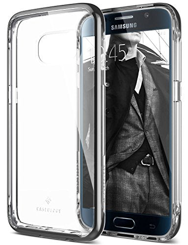 Galaxy S7 Case, Caseology [Skyfall Series] Transparent Clear Slim Protective Scratch Resistant Air Space Technology [Black] for Samsung Galaxy S7 (2016)
