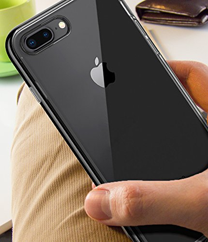 huge selection of b8dbe 266a2 Spigen Neo Hybrid Crystal [2nd Generation] iPhone 8 Plus Case / iPhone 7  Plus Case with Clear Casing and Hard Frame for Apple iPhone 8 Plus (2017) /  ...