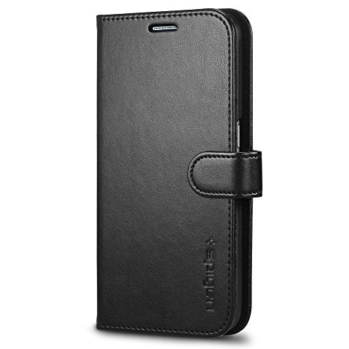 Spigen Wallet S Galaxy S6 Case with Foldable Cover and Kickstand Feature for Galaxy S6 2015 - Black