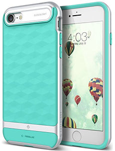 iPhone 7 Case / iPhone 8 Case Caseology [Parallax Series] Slim Dual Layer Protective Textured Geometric Cover Corner Cushion Design for Apple iPhone 7 (2016) / iPhone 8 (2017) - Mint Green