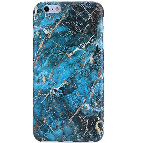 iPhone 6 Case,iPhone 6s Case Marble gold and blue, VIVIBIN Shock Absorption Anti Scratch IMD Soft TPU Silicon Gel Protective Cover Case for Regula iPhone 6 / iPhone 6s - 4.7