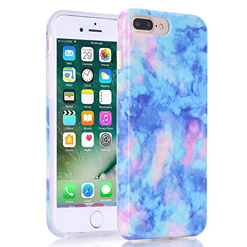 new arrivals b15bc c9fbc iPhone 7 Plus Case, Marble Creative Design, BAISRKE Slim Flexible Soft  Silicone Bumper Shockproof Gel TPU Rubber Glossy Skin Cover Case for Apple  ...