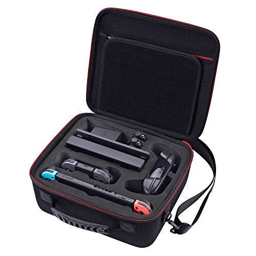 [Fit Extra Switch Pro Controller] Deluxe Nintendo Switch System Carrying Case by Zadii