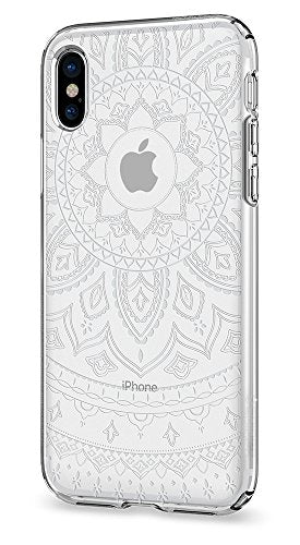 Spigen Liquid Crystal iPhone X Case with Slim Protection and Premium Clarity for Apple iPhone X (2017) - Shine Crystal Clear