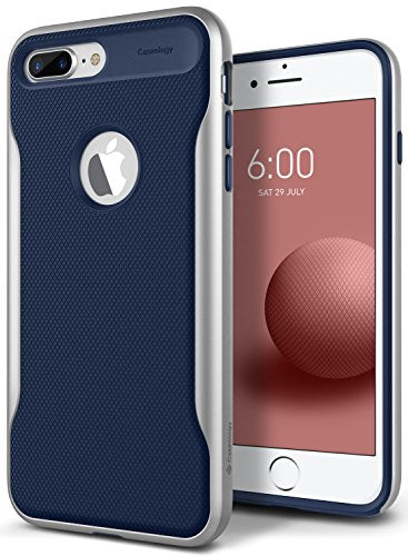 Caseology Apex 2.0 Series iPhone 8 Plus Cover Case with Design Slim Protective for Apple iPhone 8 Plus (2017) Only - Navy Blue
