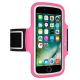 Trianium Armband For iPhone 8 7 6 6S Plus x, LG G6 G5, LG V20, Galaxy s8 s7 s6 Edge, Note 8 5,Pixel 2 XL (Fit Otterbox Defender / Lifeproof case) ArmTrek Pro Sport Running Pouch Key Holder (Hot Pink)