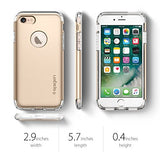 Spigen Hybrid Armor iPhone 7 Case with Air Cushion Technology and Hybrid Drop Protection for Apple iPhone 7 (2016) - Champagne Gold