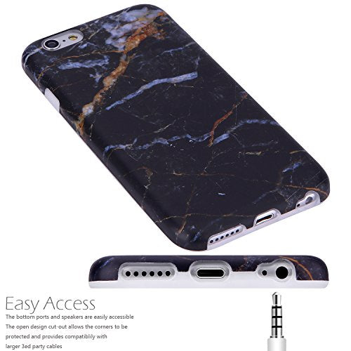 info for b0114 414ec iPhone 6 Case,iPhone 6s Case Marble Black Gold, VIVIBIN Shock Absorption  Anti Scratch IMD Soft TPU Silicon Gel Protective Cover Case for Regula  iPhone ...