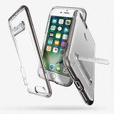 Spigen Crystal Hybrid iPhone 7 Plus / iPhone 8 Plus Case with Water-Mark Clear Case and Magnetic Metal Kickstand for Apple iPhone 7 Plus (2016) / iPhone 8 Plus (2017) - Gunmetal