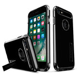 Spigen Slim Armor iPhone 7 / iPhone 8 Case with Kickstand and Air Cushion Technology Hybrid Drop Protection for Apple iPhone 7 (2016) / iPhone 8 (2017) - Jet Black