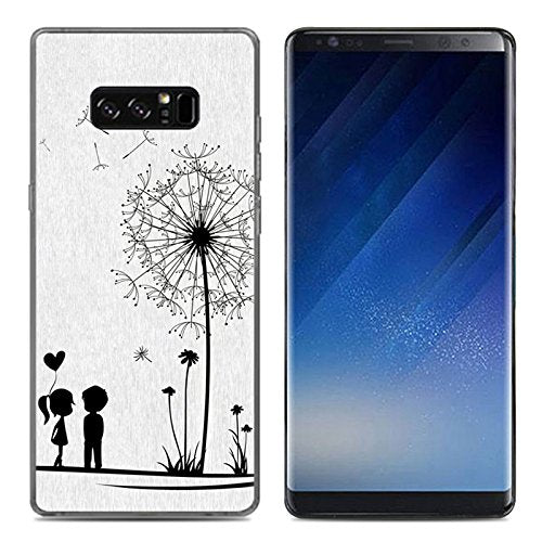 Galaxy Note8 Case, Ailiber Creative Slim-Fit Anti-Scratches Anti-Finger Print Lightweight Soft TPU Protective Cover for Samsung Galaxy Note 8 - Taraxacum