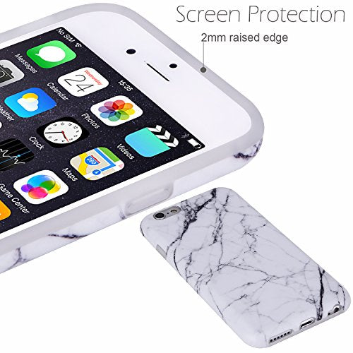 best service beb84 7a653 iPhone 6 Case,iPhone 6s Case White Marble, VIVIBIN Shock Absorption Anti  Scratch IMD Soft TPU Silicon Gel Protective Cover Case for Regula iPhone 6  / ...