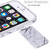 iPhone 6 Case,iPhone 6s Case White Marble, VIVIBIN Shock Absorption Anti Scratch IMD Soft TPU Silicon Gel Protective Cover Case for Regula iPhone 6 / iPhone 6s - 4.7""