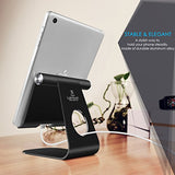 iPad Stand Adjustable, Lamicall Tablet Stand : Desktop Stand Holder Dock for new iPad 2017 Pro 9.7, 10.5, Air 2 3 4 mini, Kindle, Nexus, Accessories, Tab, Other Tablets (4-13 inch) - Black