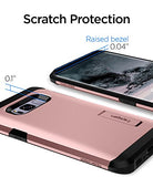 Spigen Tough Armor Galaxy S8 Case with Kickstand and Extreme Heavy Duty Protection and Air Cushion Technology for Samsung Galaxy S8 (2017) - Rose Gold