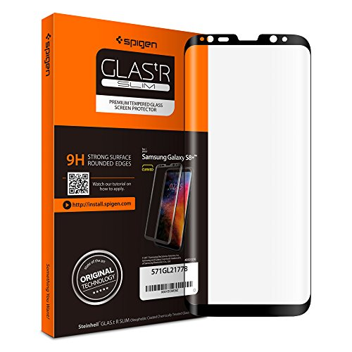 Spigen Galaxy S8 Plus Screen Protector Curved Edge / Tempered Glass / Case Friendly for Samsung Galaxy S8 Plus