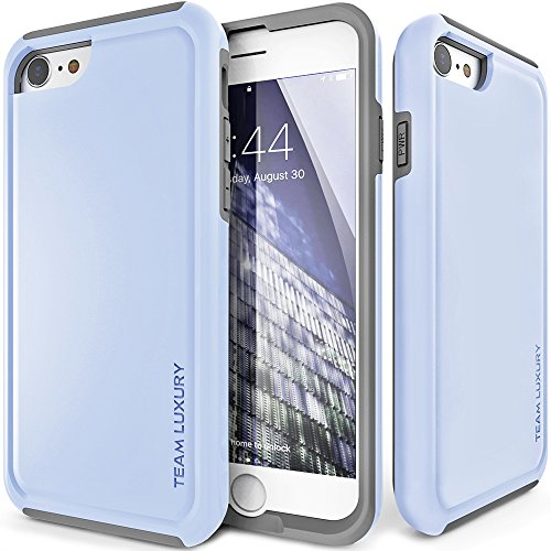 iPhone 8 Case, TEAM LUXURY Ultra Defender TPU + PC [Shock Absorbent] Premium Protective Case - for Apple iPhone 7 & 8 (Serenity/ Gray)
