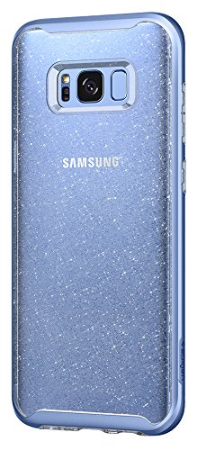 Spigen Neo Hybrid Crystal Galaxy S8 Case with Flexible Inner Casing and Reinforced Hard Bumper Frame for Samsung Galaxy S8 2017 - Glitter Blue Quartz