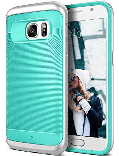 Galaxy S7 Case, Caseology [Wavelength Series] Slim Ergonomic Ripple Design [Mint Green] [Modern Grip] for Samsung Galaxy S7 (2016)