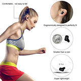 Kitbeez True Wireless Earbuds with Power Bank, TWS In-Ear Bluetooth Earbuds Noise Cancelling Mini Bluetooth Headphones with Charging Box for iPhone Samsung Sport Running (Silver)