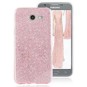 Amagle Case for Samsung Galaxy J7 (2017) Back Cover Shinning Protective Bumper Bling Glitter Case for Samsung Galaxy J7(2017)/Galaxy J7 V/J7 Sky Pro/J7 Perx Moniker/J727– Rose Gold (Rose Gold)