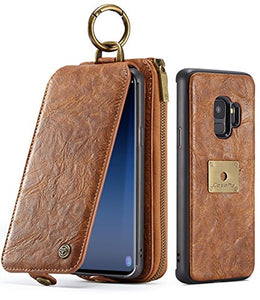 cheap for discount cc9f5 7089e S9 Case, Galaxy S9 Flip Wallet Leather Case, XRPow Samsung S9 Magnetic  Detachable Wallet Folio Case Multiple Card Slots Protective Cover for  Samsung ...