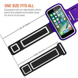 "Trianium Armband for Smaller Phone Sport Running Pouch Case Fit phone diagonal size up to 5.85"" For iPhone 7 6s 6, iPhone SE 5S 5 5C, Galaxy s8 s7 s6 s5 [ArmTrek Classic Purple]"