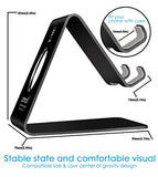 Cell Phone Stand, Lamicall S1 Dock : Cradle, Holder, Stand For Switch, all Android Smartphone, iPhone 6 6s 7 8 X Plus 5 5s 5c charging, Accessories Desk - Black