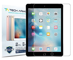 iPad Air Screen Protector, Tech Armor High Definition HD-Clear Apple iPad Air / Air 2 / NEW iPad 9.7 (2017) Film Screen Protector [2-Pack]