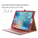 Apple iPad Pro 12.9 Case - ProCase Leather Stand Folio Case Cover for iPad Pro 12.9 Inch (Both 2017 and 2015 Models), with Multiple Viewing Angles, Auto Sleep/Wake, Apple Pencil Holder -Red