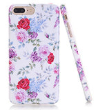 iPhone 7 Plus Case, Flower Creative Design, BAISRKE Slim Flexible Soft Silicone Bumper Shockproof Gel TPU Rubber Glossy Skin Cover Case for Apple iPhone 7 Plus 5.5 inch (2016) - Rose