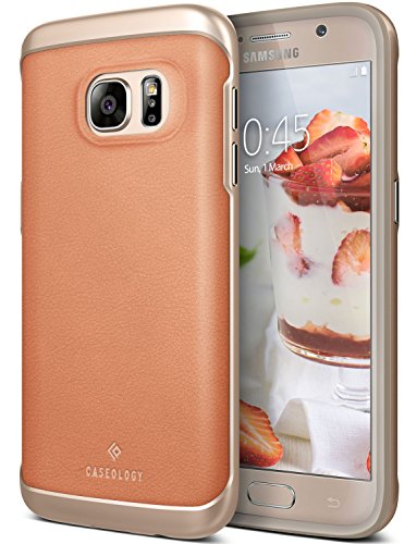 Galaxy S7 Case, Caseology [Envoy Series] Slim Premium PU Leather Dual Layer Protective Corner Cushion Design [Leather Pink] for Samsung Galaxy S7 (2016)