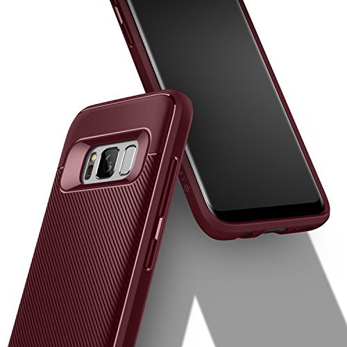 size 40 02687 be9a7 Galaxy S8 Plus Case, Caseology [Vault II Series] Slim Protective Shock  Absorbing TPU Textured Grip Corner Cushion Design [Burgundy] for Samsung  Galaxy ...