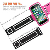 "Trianium Armband for Smaller Phone Sport Running Pouch Case Fit phone diagonal size up to 5.85"" For iPhone 7 6s 6, iPhone SE 5S 5 5C, Galaxy s8 s7 s6 s5 [ArmTrek Classic Hot Pink]"
