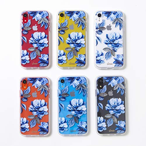 san francisco 3282f 45ade iPhone XR, Sonix Indigo (Blue Flowers) Cell Phone Case [Military Drop Test  Certified] Women's Protective Clear Case for Apple iPhone (6.1