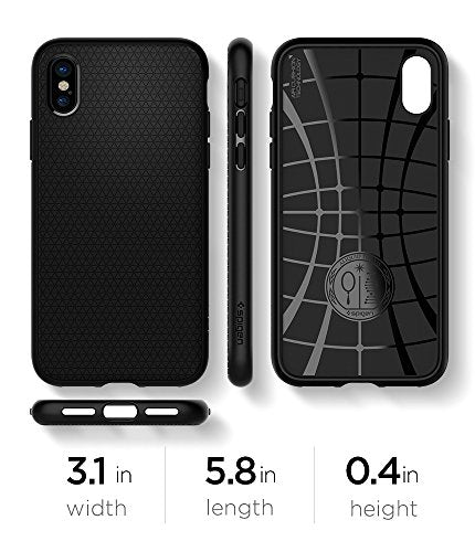 quality design dba59 9e0b9 Spigen Liquid Air Armor iPhone X Case with Durable Flex and Easy Grip  Design for Apple iPhone X (2017) - Matte Black