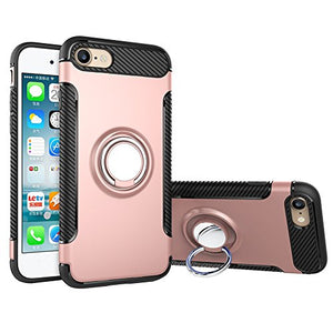 the latest fda4a a9e09 For iPhone 6 / 6S Case,CHEEDAY [Newest] Rugged 2 in 1 Case with Ring Holder  Kickstand Drop Protection Cover Soft Rubber Bumper Case for Apple iPhone 6  ...