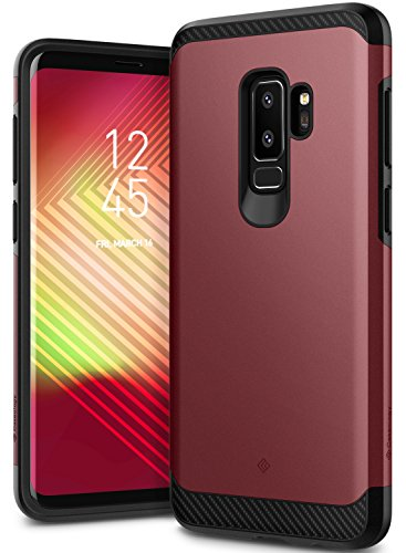 Galaxy S9 Plus Case, Caseology [Legion Series] Slim Heavy Duty Protection Dual Layer Armor Cover for Samsung Galaxy S9 Plus (2018) - Burgundy