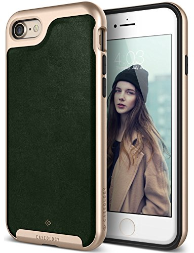 iPhone 7 Case / iPhone 8 Case Caseology [Envoy Series] Slim Premium PU Leather Dual Layer Protective Corner Cushion Design for Apple iPhone 7 (2016) / iPhone 8 (2017) - Leather Green