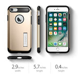 Spigen Slim Armor iPhone 7 / iPhone 8 Case with Kickstand and Air Cushion Technology Hybrid Drop Protection for Apple iPhone 7 (2016) / iPhone 8 (2017) - Champagne Gold