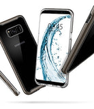 Spigen Neo Hybrid Crystal Galaxy S8 Case with Clear Hard Casing and Reinforced Hard Bumper Frame for Samsung Galaxy S8 (2017) - Gunmetal