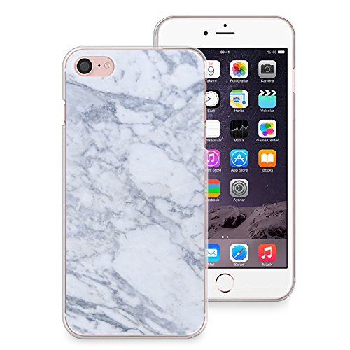 save off 56e86 5486b iPhone 8 Case, iPhone 7 Case, CasesByLorraineGray Marble Print Case Slim  Hard Plastic Back Cover for Apple iPhone 7 & iPhone 8 (X03)