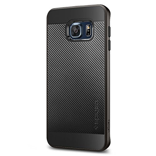 Spigen Neo Hybrid Carbon Galaxy S6 Edge Plus Case with Carbon Fiber Design and Reinforced Hard Bumper Frame for Galaxy S6 Edge Plus 2015 - Gunmetal