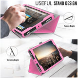 MoKo Case for All-New Amazon Fire HD 8 Tablet (7th Generation, 2017 Release Only) - Slim Folding Stand Cover for Fire HD 8, MAGENTA (with Auto Wake / Sleep)