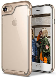 iPhone 7 Case, iPhone 8 Case, Caseology [Skyfall Series] Transparent Clear Slim Scratch Resistant Protective Cover Air Space Technology for Apple iPhone 7 (2016) / iPhone 8 (2017) - Gold