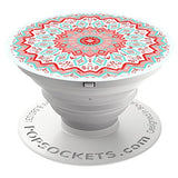 PopSockets: Expanding Stand and Grip for Smartphones and Tablets - Aztec Mandala Red
