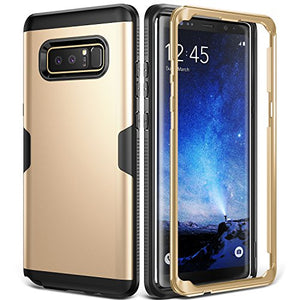 Galaxy Note 8 Case, YOUMAKER Full Body Heavy Duty Protection Shockproof Slim Fit Case Cover for Samsung Galaxy Note 8 (2017 Release) WITHOUT Built-in Screen Protector (Gold/Black)